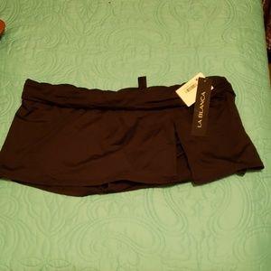Bkack NWT La Blanca Swim Skirt Sz 14